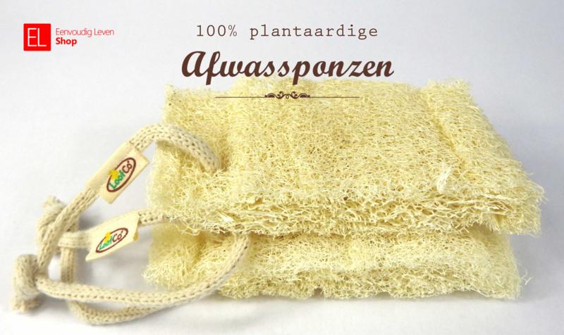 Spons - 100% plantaardige afwassponzen (set van twee stuks)