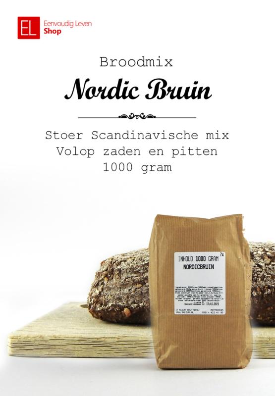 Broodmix - Nordic bruin - 1000 gr