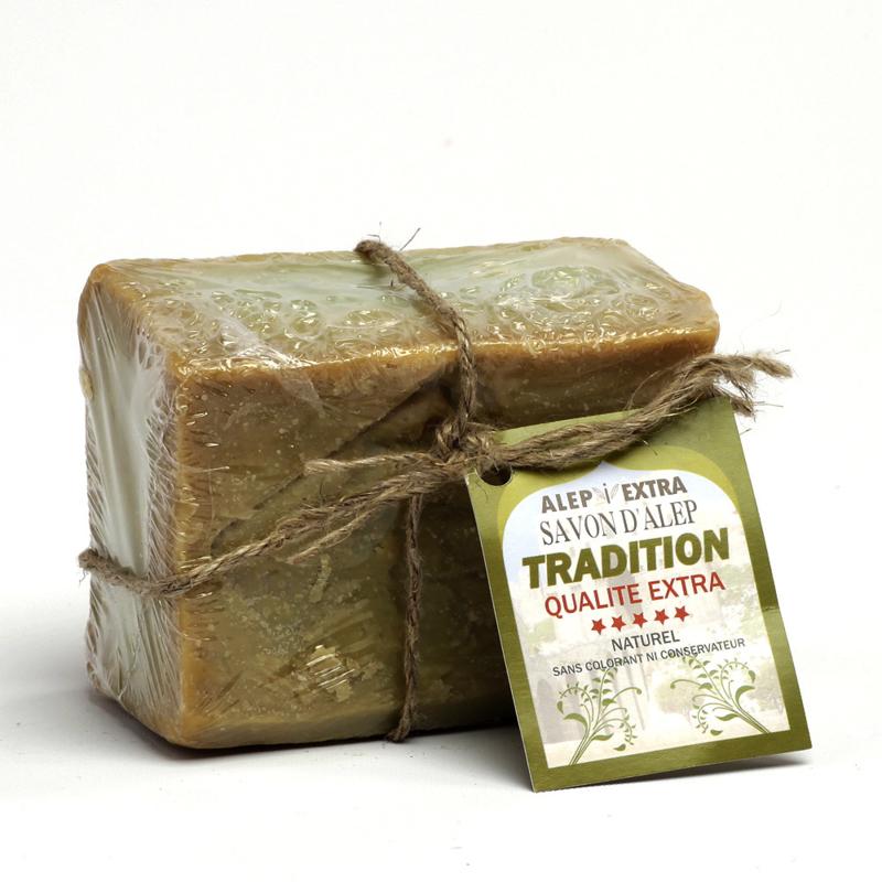 Savon Alep I extra traditionel d'huile de laurier naturel (200 gr.), 5% laurierolie