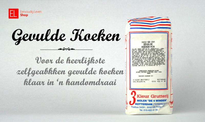 Bakmix - Gevulde Koeken - 500 gram