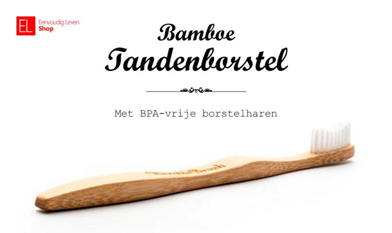 Tandenborstel - Bamboe - Wit