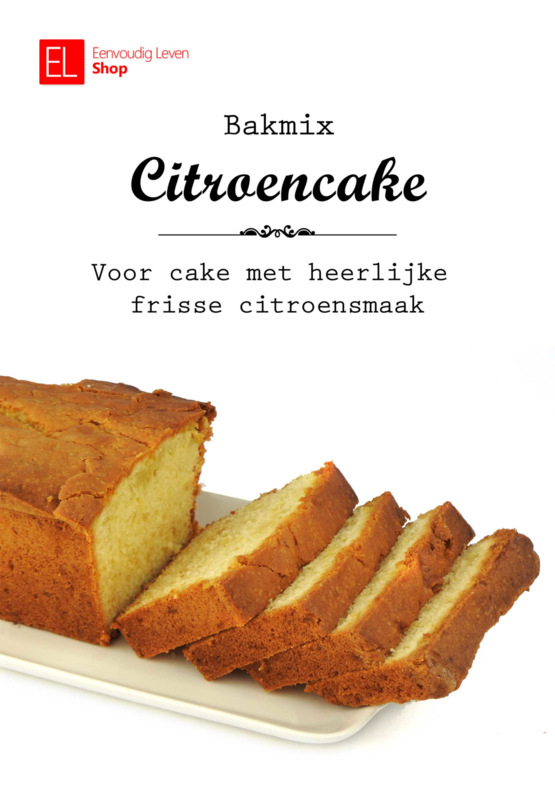 Bakmix - Cakemix - Citroencake - 600 gram