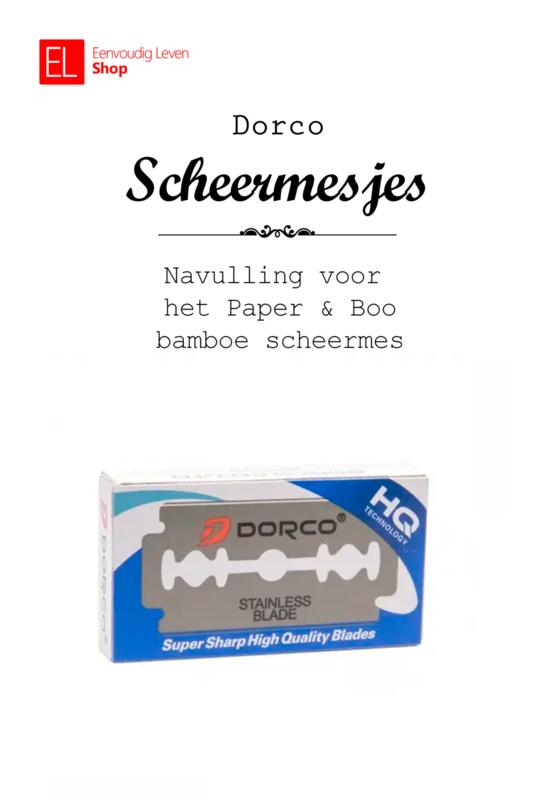 Scheren - Navulling scheermesjes - voor Paper & Boo bamboe scheermes