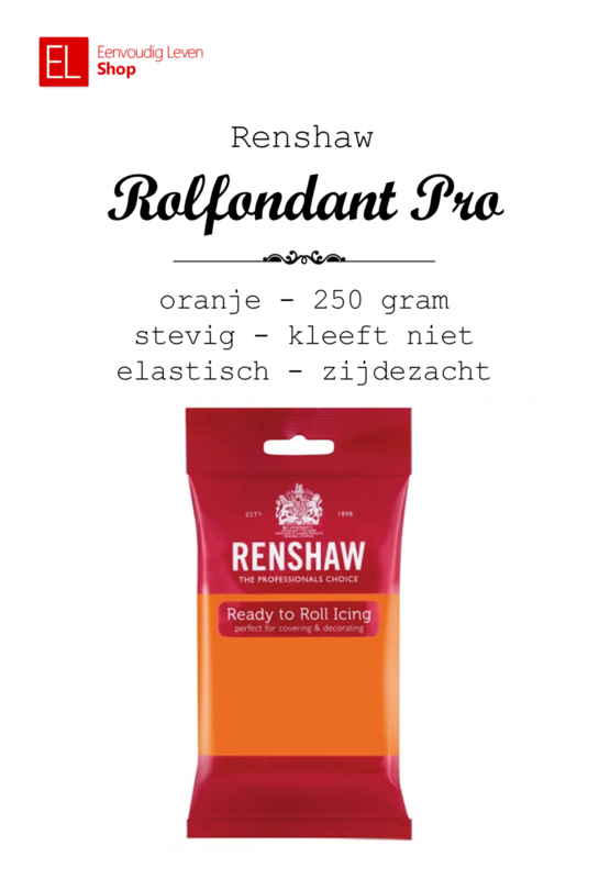 Rolfondant - Renshaw - 250 gram - Oranje