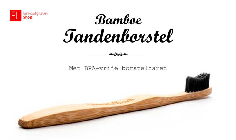 Tandenborstel - Bamboe - Zwart