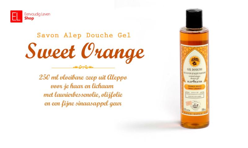 Savon Alep - Douche Gel - Sweet Orange - 250 ml