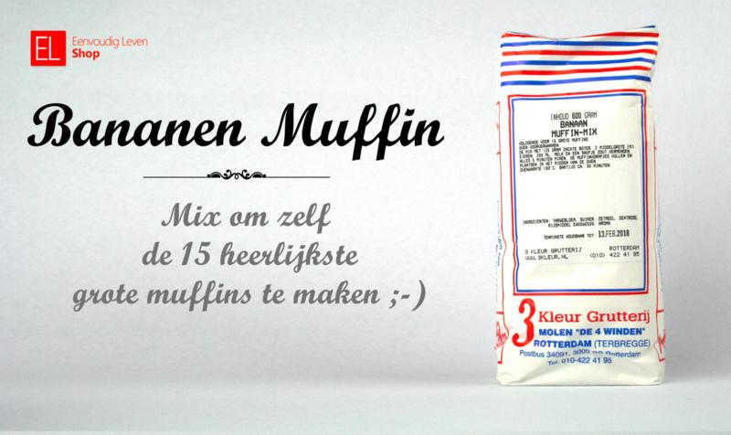 Bakmix - Muffin Banaan - 600 gram