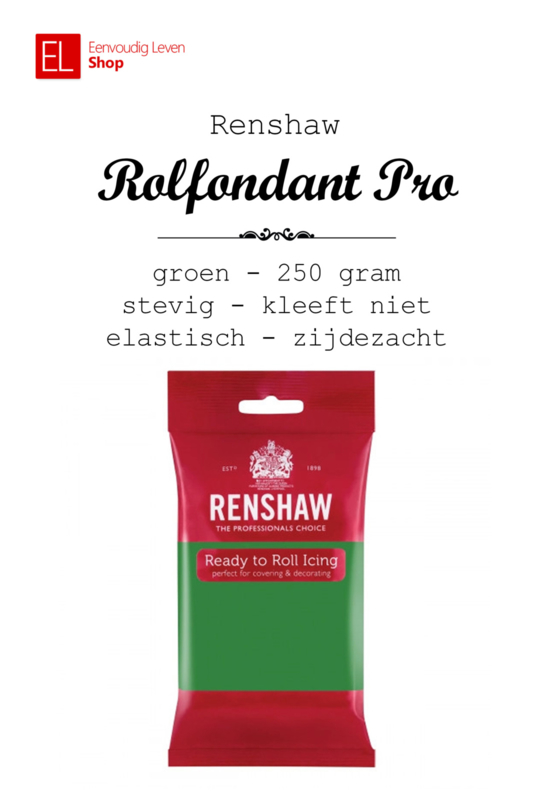 Rolfondant - Renshaw - 250 gram - Groen
