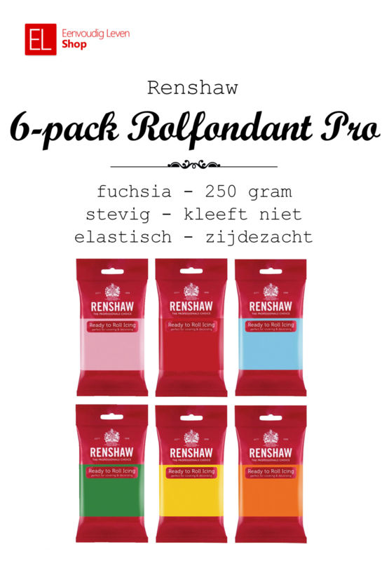 Rolfondant - Renshaw - 6 pack - 6 x 250 gram