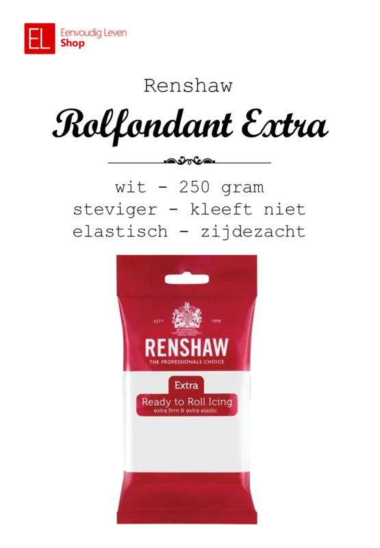 Rolfondant - Renshaw - 250 gram - Wit