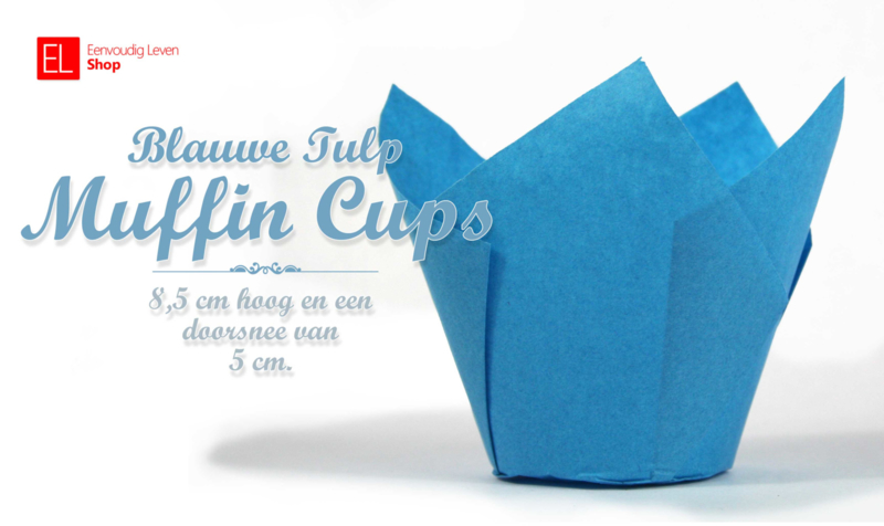 Muffin Cups Tulp Blauw, 85 mm