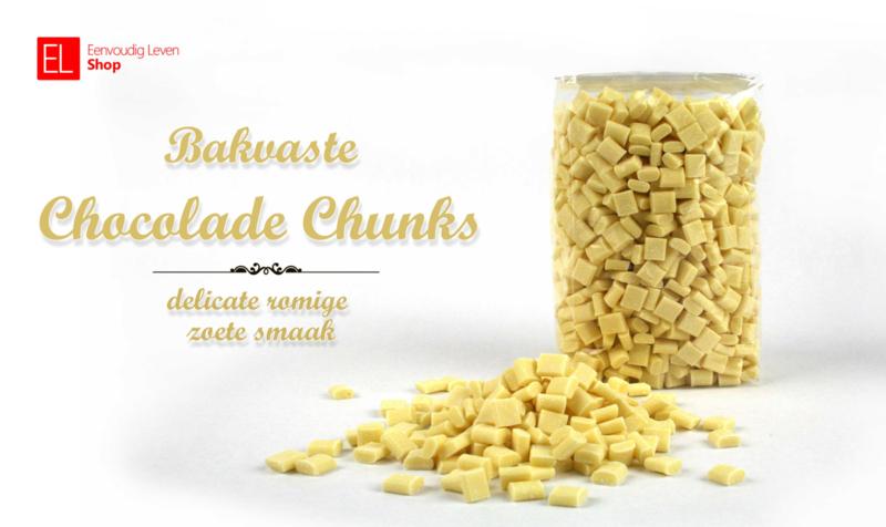 Chocolade Chunks - 500 gram - wit / bakvast / Callebaut