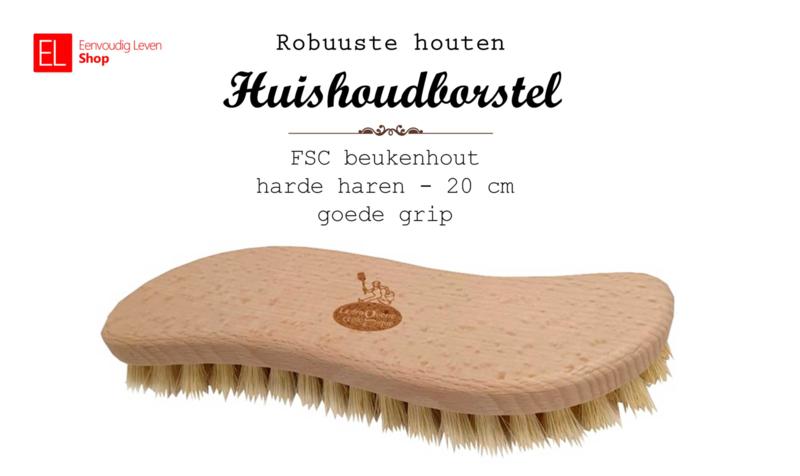 Borstel - Huishoudborstel hout