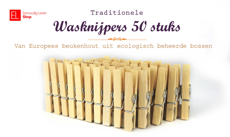 Wasknijper - Traditioneel - 50 stuks - 72 mm lang