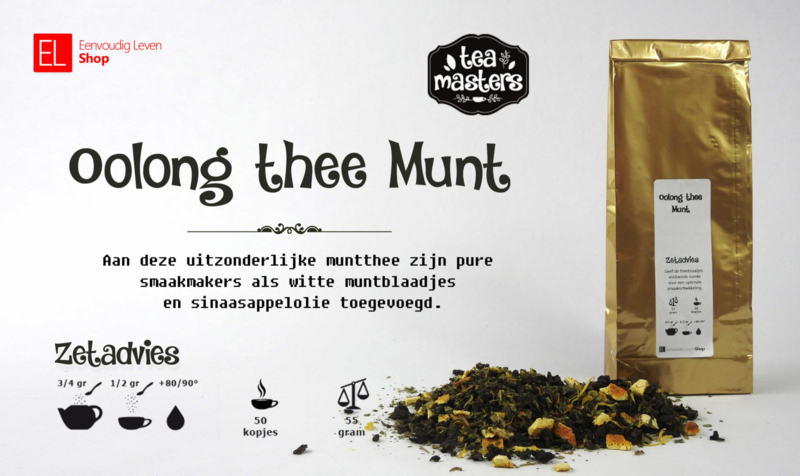 Thee - Oolong thee Munt - 55 gram