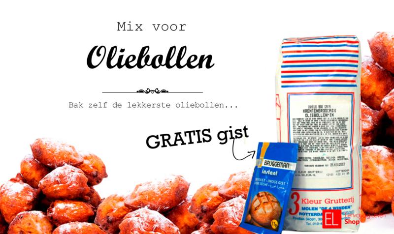 Bakmix - Oliebollen - met gratis gist - 800 gram