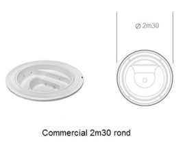 Commercial Spa 2m30 round
