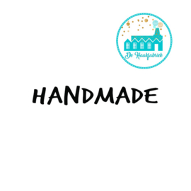 Big Labels 8 cm x 3 cm 'Handmade' transverse