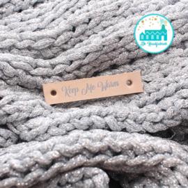 Keep me Warm Sierlijke Letter Naturel 1 cm Zilver letters