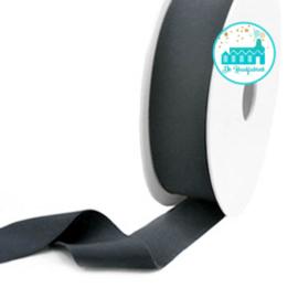 Ibiza Elastiek voor armbandjes Antraciet 25 mm