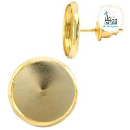 Metalen oorsteker voor stipsteentjes 12mm Goud
