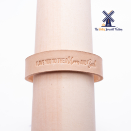 Leren Armband I LOVE YOU TO THE MOON AND BACK 15MM