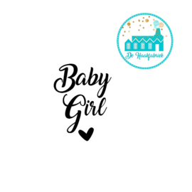 Big Labels 8 cm x 3 cm 'Baby Girl' transverse