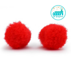 Mini Pompons 15 mm Rood