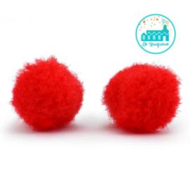 Mini Pompons 15 mm Red