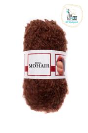 Puppengarn-poppengaren-mohair-boucle Donker Bruin