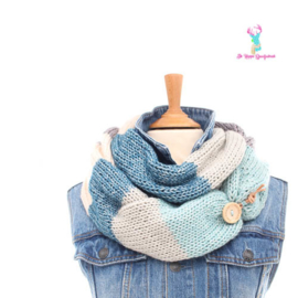 Scarf Blue with Knot Closure