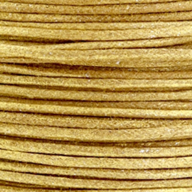 Waxkoord metallic 1.0mm Golden brown