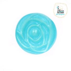 Roosknoopje 10 MM Aqua