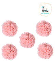 Pompon Stof 20MM Wit