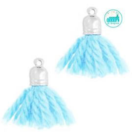 Kwastjes Licht Blauw 2 cm