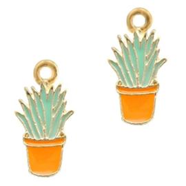 Bedel cactus mint oranje goud 21 mm x 10mm