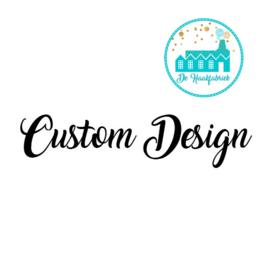 Big Labels 8 cm x 3 cm 'Custom Design' transverse