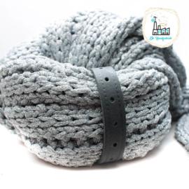 Sjaal Riempje Antraciet 23 cm
