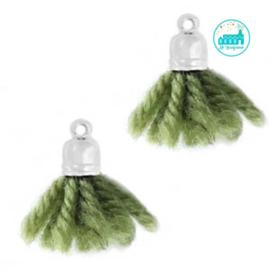 Kwastjes Olijf Groen 2 cm