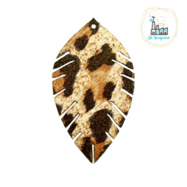 Imi leer hangers leaf leopard Beige-brown Small