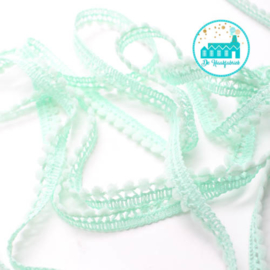 Mini Pompon Strip Pastel Green 1 meter