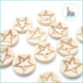 Wooden Buttons 20 mm 'Star'