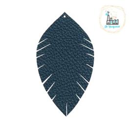 Imi leer hangers leaf Blauw Small
