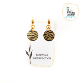 Set Steekmarkeerders Zebra Black Gold