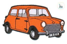 Applicatie Bloemetje MINI 9 x 5 cm Oranje