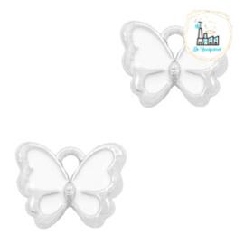bedels vlinder Zilver-White 13 x 10 MM