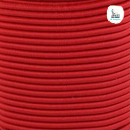Koord Elastiek Rood 1 meter 3 mm breed