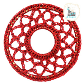 Gehaakte hanger rond 54mm Port red