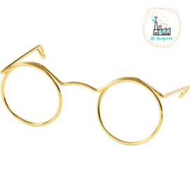 Bril voor amigurumi 50 mm, binnenmaat 17 mm, goud