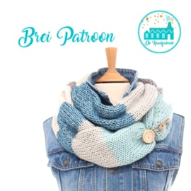 Brei Patroon Colsjaal Blue
